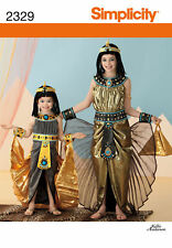 Simp 2329 Girls' Cleopatra Egyptian Costume Pattern 3-6