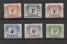 [ZZA-440] – Zambia   - 1964  : Postage Due   6 val.      **  MNH