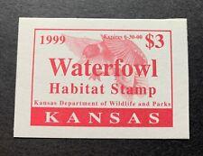 Wtdstamps - 1999 Kansas - State Duck Stamp - Mint Og Nh -