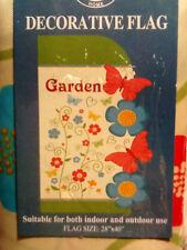 Butterfly Flower Garden Indoor Outdoor Garden Flag Large 28 X 40