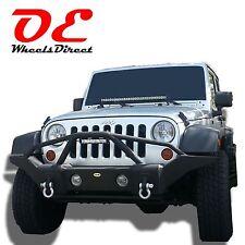 07-16 Jeep Wrangler Rock Crawl steel bumper full size black 01 ko off road