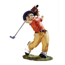 Figurine Mestieri Golfer Resin and Calcium Carbonate Made in Italy 7 5/16in