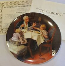 1985 The Gourmet Norman Rockwell Collector Plate 9th In Heritage Collection