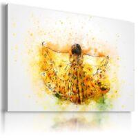 SUNFLOWERS YELLOW SUMMER FLOWER GIRL DRESS Canvas Wall Art Picture FL8  MATAGA .
