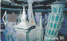 Télécarte 50 Euro Disneyland It's a Small World pavillon The World Chorus 04/92