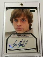 Mark Hamill Auto Topps Star Wars Galactic files Luke Skywalker Autograph Signed