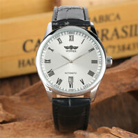 WINNER Luxury Mens Automatic Mechanical Wrist Watch Leather Strap Band Date