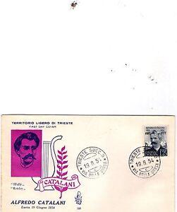 TRIESTE - FDC VENETIA  N°225 1954 - CATALANI, PERFETTA