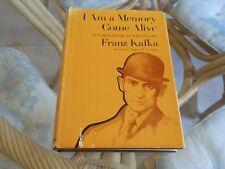 I Am a Memory Come Alive - Franz Kafka - Autobiographical 1974 1st edition HC DJ