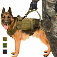Military K9 Adjustable Nylon Training Medium Large Dog Vest Harness M/L