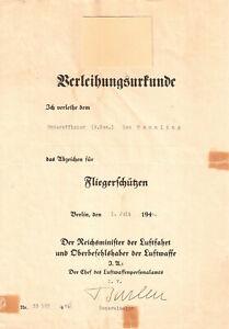 ORIGINAL AUTOGRAMM VON KARL BARLEN ( GENERAL DER FLIEGER / DK IN GOLD )