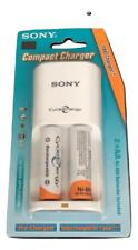 Sony Rechargeable Battery Charger With 2x AA Batteries Included 2000mAh