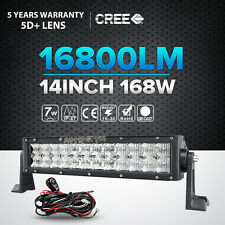 "5D 14""Inch 168W CREE Led Work Light Bar Spot Flood Combo Offroad 4WD Truck ATV"