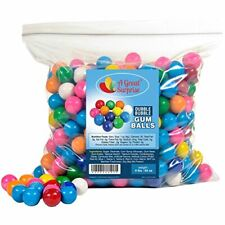"""Gumball Machine Refill Bubble Gum Gumballs Candy w/ Assorted Flavor 1"""" (1lb)"""
