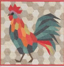 The Rooster - English paper piecing quilt PATTERN - Violet Craft