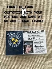 RESIDENT EVIL S.T.A.R.S RACCOON POLICE DEPT ID Badge Card ~ CUSTOMIZABLE W BONUS
