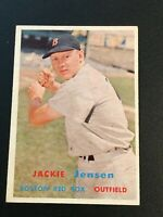 F64409  1957 Topps #220 Jackie Jensen RED SOX