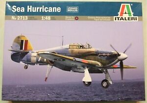 Italeri 1/48 Hawker Sea Hurricane, Kit # 2713 + 4 Extras - MIOB