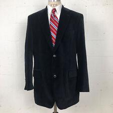 Hugo Boss Mens Sport Coat 46 L Blue Black Check Corduroy Pasolini Blazer Velvet
