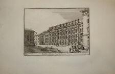 Stampa antica Piazza di Pietra Roma 1766 old print gravure kupferstich