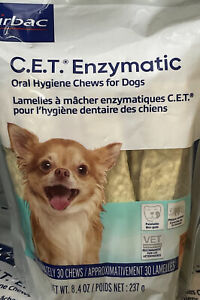 Virbac C.E.T. Enzymatic Oral Hygiene Chews for Dogs Extra Small 5/23