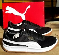 Puma California Casual 36660806 Mens Black Suede Low Top Sneakers Shoes size 9