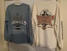 2 Harley Davidson Men's Shirts Long Sleeve Pullover LARGE & X-LARGE 2002-2008