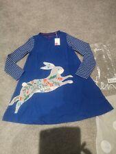 NEW Mini Boden Applique Rabbit Dress, age 8-9 years