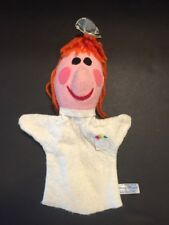Vintage Felt Mary Meyer Hand Puppet Doctor Orange Yarn Hair