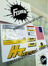 Fisher Minute Mount 2 Snow Plow Decals 9pc Kit for HT2 Series MM2 SD LD RD HD XV