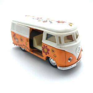 Kinsmart Volkswagen VW Panel Bus Pull-Back Action Toy Sliding Door Die Cast 1/32