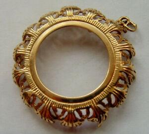 9ct Gold Full Sovereign Pendant Mount Hallmarked Good Weight