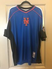 NWT Majestic Brand New York Mets Pullover Jersey. Size Large