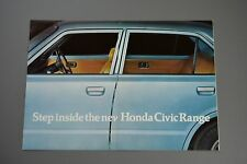 Car Brochure, Honda Civic 1200 1500, Mk1 1975, Halifax Dealer Stamp