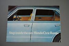Car Brochure, Honda Civic 1200 1500, Mk1 1975, Halifax Dealer Stamp