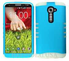 KoolKase Hybrid Silicone Cover Case for LG G2 - Aqua Blue (FL)