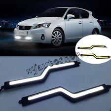 2PC Bright Car COB LED Lights Daytime Running Light DRL Fog Driving Lamp white