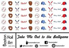 Take Me Out to the Ballgame Waterslide Nail Decals  - 50 PC - BNA-10196