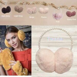 Alex Max Premium Luxurious Pearl Hairband Ear Muff - Penna