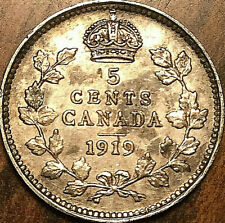 1919 CANADA SILVER 5 CENTS COIN - Fantastic example!