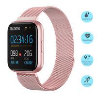 Damen Smartwatch Fitness Tracker Armband Uhr für iPhone Moto Huawei P30 P20 P10