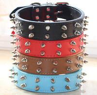Spiked Studded Dog Collar Large Dog Leather Collar Pet Dog Collar Pit Bull Bully