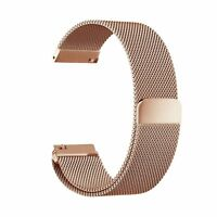 Rose Gold Milanese Magnetic Stainless Steel Strap Watch Band For Fitbit Blaze