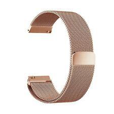 Oro Rosa Correa Milanesa Magnético De Acero Inoxidable Malla de Reloj para Fitbit Blaze