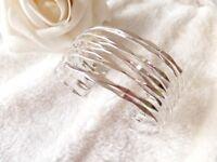 premier designs woman jewelry silver tone bracelet cuff bangle