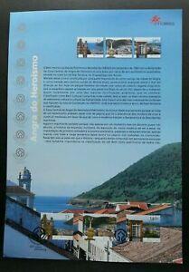 [SJ] Portugal Cultural Inheritance 2001 Culture Tourism (stamp on info sheet)