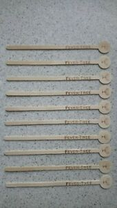 Fever-Tree Wooden Drinks Stirrers Swizzle Sticks (x 10) for Gin Night Party