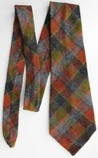 "Vintage wool kipper tie Tartan check plaid pattern Thick and 5"" wide VGC"