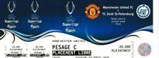 More details for rare football ticket manchester united v zenit st-petersburg 2008 mint unused