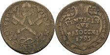 25 Baiocchi 1795 Vatikan Rom Pius VI., 1775 - 1799, Schlüssel #HEB265